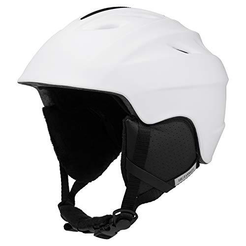 Multi Snow Sport Helmets, Ski Helmet Unisex Adult Lightweight Outdoor Snowboard Helmet with Fleece Lining and Carrying Bag Unisex