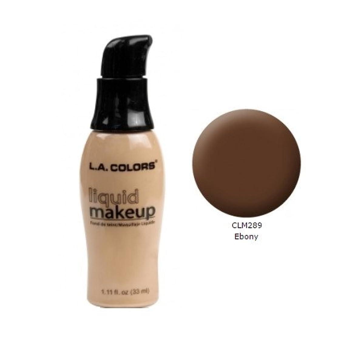 ぶら下がるアリス祝う(6 Pack) LA COLORS Liquid Makeup - Ebony (並行輸入品)