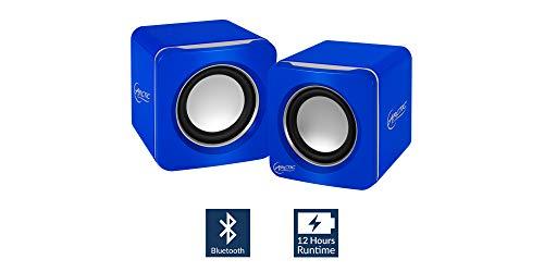 ARCTIC S111 BT - Tragbare Lautsprecher mit USB Anschluss, Mini Speaker mit überzeugender Klangqualität für Desktop-PC bis zu 12h Akkulaufzeit, kompaktes Design - Blau, SPASO-SP009BL-GBA01