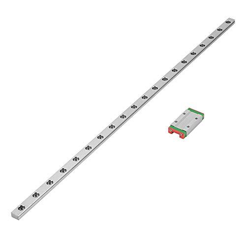 Miniatur Linearschiene Führungsschiene,LML9H Mini Linear Rail Guide, 450 mm Linear Schiebetür Gide 9mm Breite mit ein Schiebeblock,für DIY 3D Drucker,CNC-Maschine usw