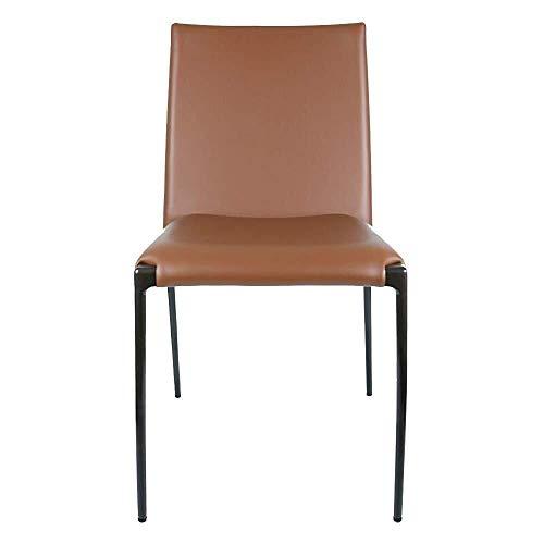YUXIwang Silla de comedor, moderna y minimalista, de piel, para comedor, tocador, silla de ocio, impermeable, adecuada para el hogar, sillas de cocina (color: marrón, tamaño: 45 x 45 x 82 cm)