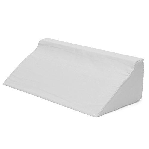 VIDOO Acid Reflux Foam Bed Wedge Kissen Bein Elevation Rücken Lordosenstütze Kissen-Weiß