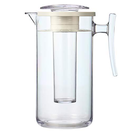 bremermann Aroma- und Kühlkaraffe mit Kühlstab und Sieb, 2,0 Liter Kühlkrug (Transparent)