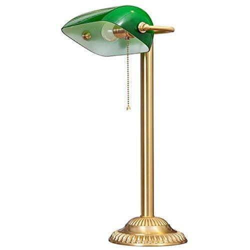 Lampe de banquier abat-jour vert rétro bronze traditionnel lampes de bureau étude de bureau conceptions simples oeil soins lecture liseuses grand