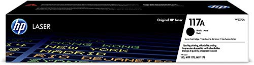 HP Toner 117A W2070A, Cartuccia Originale da 1.000 Pagine, Compatibile con Stampanti HP Toner Color LaserJet Serie 150 e HP Toner Color Laserjet Serie MFP 170, Nero