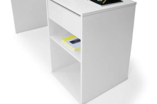 TOP KIT | Mesa de Escritorio Burgos 5010 con cajón (Ancho 100cm) | Blanco