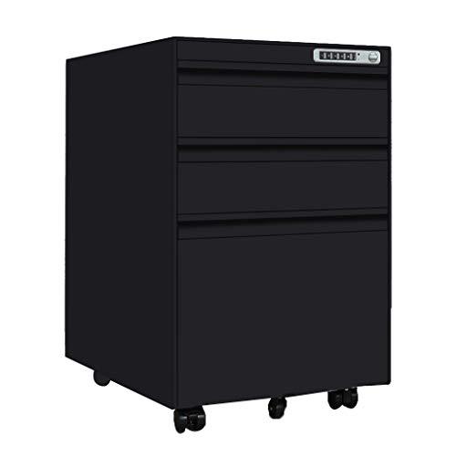 Archiefkast kantoor-rolcontainer slot datakast kantoor mobiele nachttafel staal activiteit lage kast