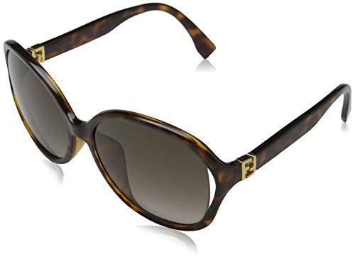 Fendi Sonnenbrille FF 0032/F/S D29 Groß Sonnenbrille 60, Braun