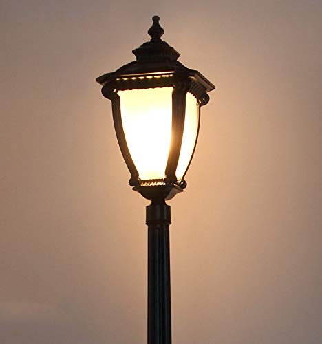 Victoriaanse stijl zwart IP55 tuinlamp outdoor waterdichte lichtpalen zuil lamp glas decoratieve lamp LED E27 straatlicht gazon vloerlamp wandlamp terras tuin