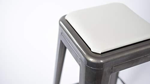 Cush Quadratisches Stuhlkissen Tolix ähnlich stapelbare Hocker 9-3/4