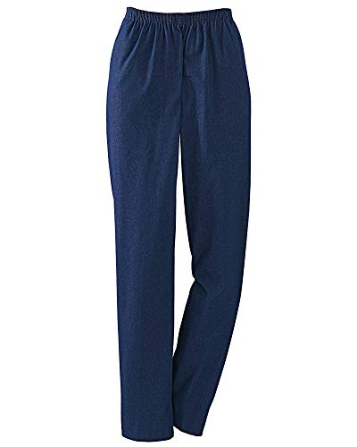 Alfred Dunner Petites Pull-On Pants, Easy On & Off - Comfort Stretch Denim Side Pockets Casual Any Day Wear, Denim, 16 Short