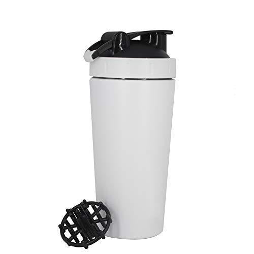 TTXS Vaso agitador de Acero Inoxidable de una Sola Capa 304 proteína en Polvo batido Taza de Agua de Fitness con Escala de Ventana Transparente