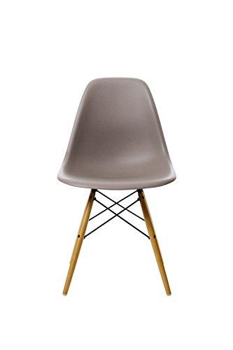 Vitra Eames Plastic Side Chair DSW Ahorn - Sitzschale in 8 Farben erhältlich basalt / für Teppichboden