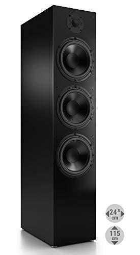 Nubert nuBox 683 Standlautsprecher | Lautsprecher für Stereo & Musikgenuss | Heimkino & HiFi Qualität auf hohem Niveau | Passive Standbox mit 2.5 Wege Technik | Standbox Schwarz | 1 Stück