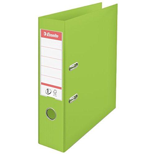 Esselte 624069 Plastik-Ordner (zur Archivierung, Vivida Plastik, A4, 7,5 cm Rückenbreite, No.1) grün