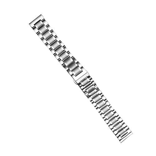 ibasenice Correa de Reloj de Metal - Cierre de Mariposa Correa de Reloj de Acero Inoxidable Correa de Reloj General Correa de Reloj Correa para Hombre Mujer 14 mm 16 mm 18 mm 20 mm 22 mm
