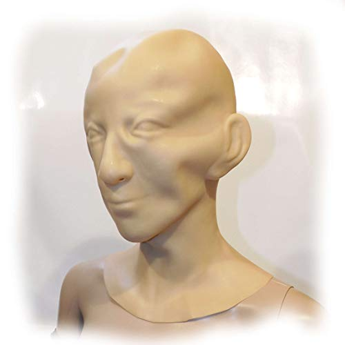 Latex Maske Men Mundstück und Nasenröhrchen 1,6 mm Size:one size
