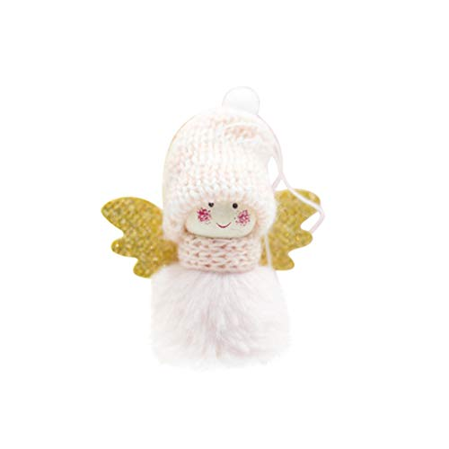 poedkl Mini Cute Plush Angel Girl Christmas Tree Pendants Ornaments Home Decoration