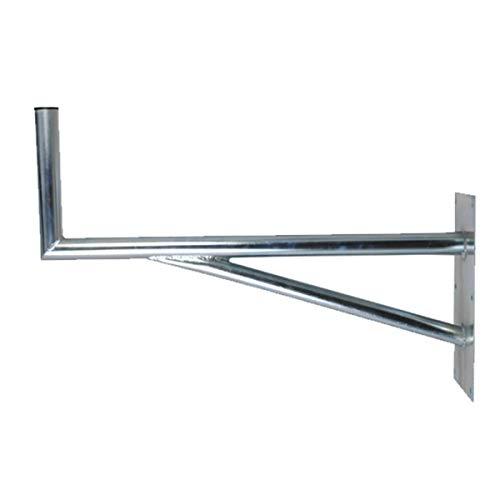 PremiumX 60cm SAT Halterung mit Stützelement Stahl Auslegerlänge 600mm Auslegerhöhe 300mm Grundplatte 400x200mm Wand Montage Halter Wandhalter