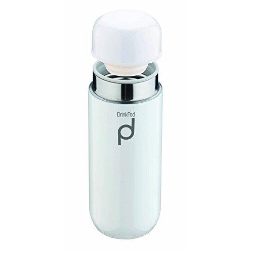 Pioneer DrinkPod Isolierflasche aus Edelstahl 0,2 L Doppelwandig Thermo-Lebensmittelbehälter 6 Stunden Heiß 24 Stunden Kühl Auslaufsicher BPA-Frei - Weiß