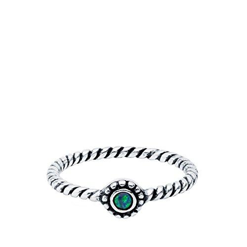 Iyé Biyé Jewels damesring Midi sterling zilver 925 zirkonia blauw gedraaid