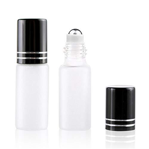Preisvergleich Produktbild OVsler Ätherisches Öl Roll On Glasflaschen Für Ätherisches Öl Rollerflaschen für ätherische Öle Rollen Sie auf Flaschen Black