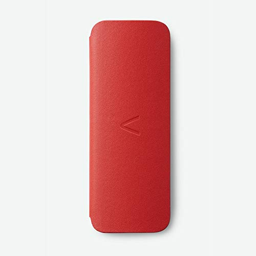 AliveCor KardiaMobile 6L Soft Crafted Leather Carry Pod Carrying Case | Travel Case Features Magnetic Closure to Keep Kardia Device Safe On-the-Go | Fits in Pocket or Purse - Red