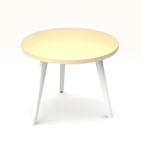 Beistelltisch Amber rund Ø 700 mm Couchtisch Kaffeetisch Loungetable Loungetisch Ablagetisch, Melamin-Farbe:Ahorn