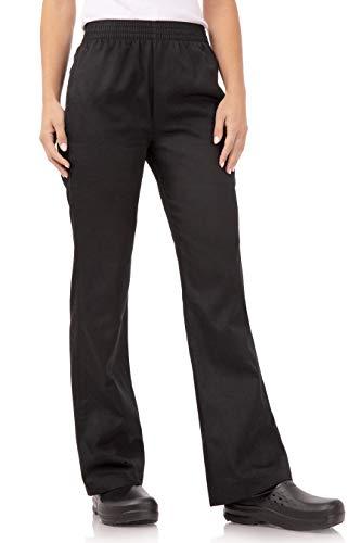 Chef Works Women's Essential Baggy Chef Pants, Black, Medium