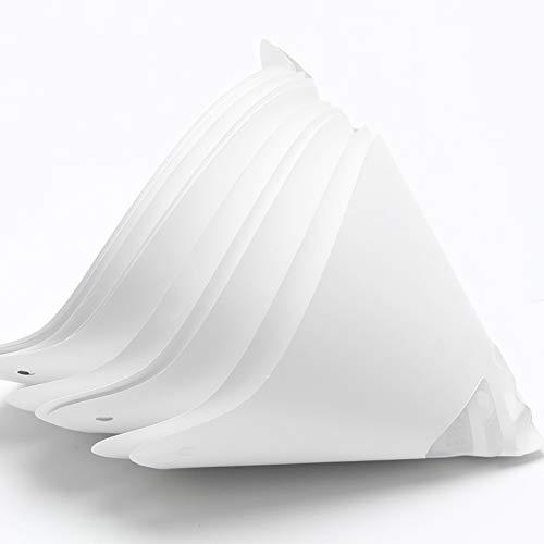 Verbrauchbarer Trichter, 20 Stück 3D-Drucker Trichter, für Anycubic Photon SLA UV 3D Drucker Zubehör, Papiertrichter Harzfilter, weiß