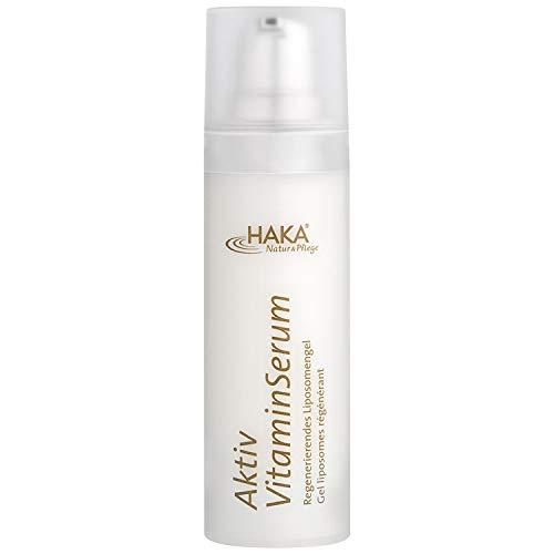 HAKA Aktiv Vitamin-Serum I 30 ml Spender I Anti Falten Gesichts Serum mit Vitamin A, E und C I Feuchtigkeitscreme für reife Haut I Anti Aging Creme