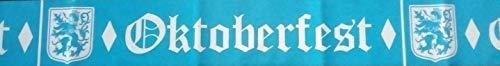 saxxdeluxe Absperr-Deko-Band Bier-Zelt-Bank-Garnitur Straßen-Banner Party blau weiß Oktoberfest Dekoration vom Sachsen Versand