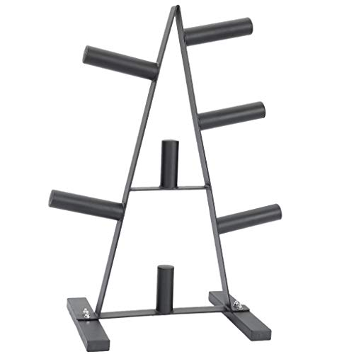 Kingtowag Weight Plate Rack Olympic Dumbbell Tree Stand for Holder|Strength Training Plates|Home Gym Storage|Small Weight Rack