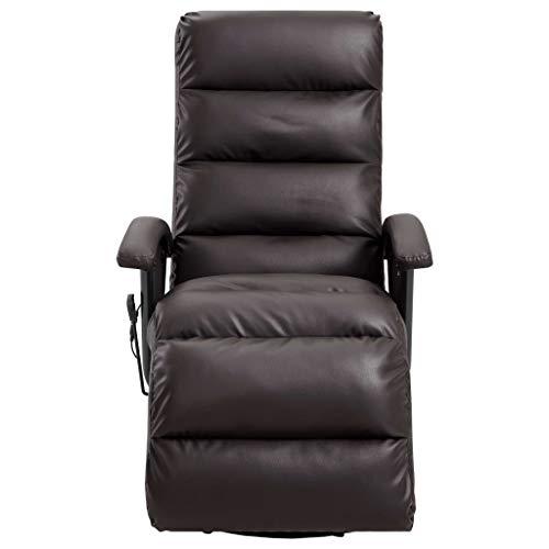 Tidyard TV Massagesessel mit Wärmefunktion Massage Elektrisch Fernsehsessel Relaxsessel Sessel Relaxliege Liegesessel Ruhesessel Braun Kunstleder