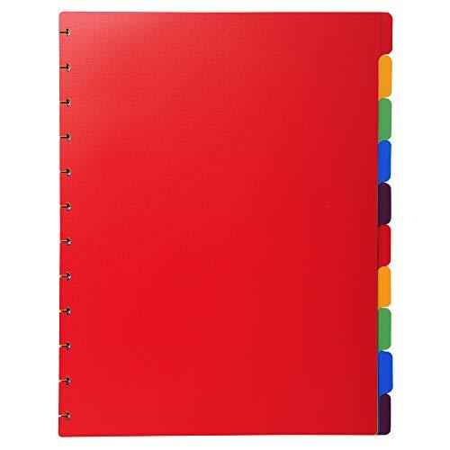 Exacompta 86003E Recambio de separadores para las carpetas de fundas con anillas, Multicolor, A4, 24 x 30.5 cm, Paquete de 10