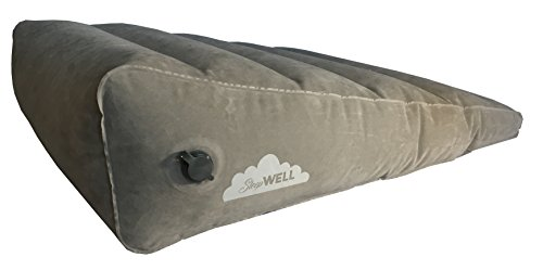 Sleepwell Inflatable Portable Bed Wedge with Quick Inflate/Deflate Valve and Soft Surface