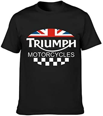 Triumph Motorcycle Biker UK United Kingdom Flag T Shirt Cotton Summer Man Tee Elasticity Loose product image