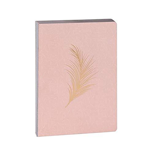 Artebene Notizbuch Schreibbuch Feder Rose/Gold DIN A6, notizbuch geschenk
