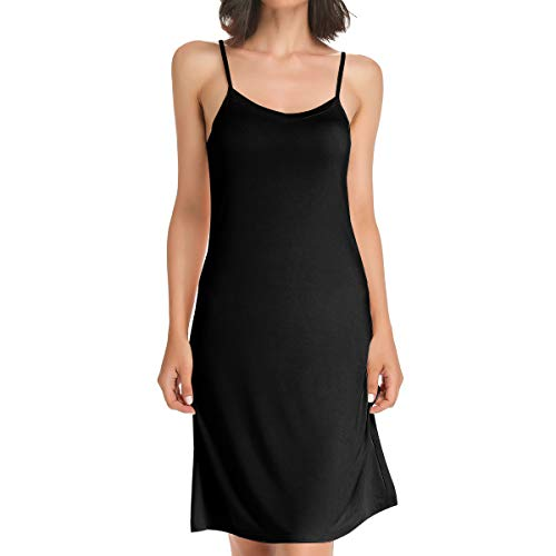 CARCOS Damen Unterkleid mit Verstellbarer Spaghettiträger Frauen Unterröcke Nachthemd Nachtwäsche Negligee Miederkleid Full Slip Shapewear