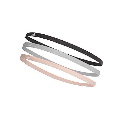 adidas Erwachsene 3 Pair Pack Stirnband, Carbon/Grey One/Clear Orange, Size