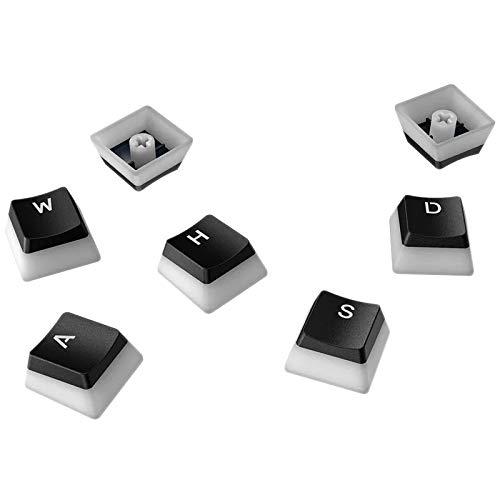 Cobeky Juego de teclas Pudding PBT retroiluminadas de doble lente, apto para teclado convencional 104