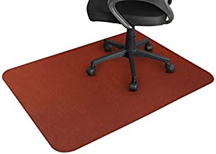 GTRACING Office Chair Mat for Hardwood and Tile Floor 47 x 35 INCH, Under The Desk Mat for Rolling Chair and Computer Desk, Anti-Slip, Non-Curve, Brown