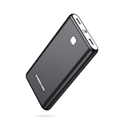 Poweradd Pilot X7 20000mAh Power Bank Ultra High Capacity Portable Charger with Dual Fast Charging External Battery Pack Compatible with iPhone, iPad, Samsung, Nexus, HTC and More-Black