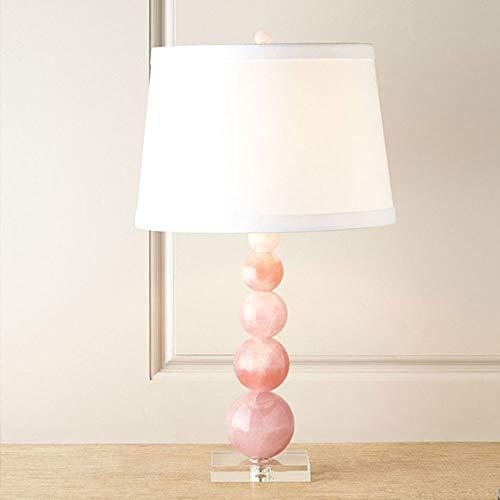 Lámpara Escritorio Lámpara Pastoral Estilo Pink Glass Mesa Lámpara Moderna Minimalista Sala de estar Dormitorio Decoración de niños Decoración de la mesa de cristal salvaje Lámpara de mesa (36 * 68cm)