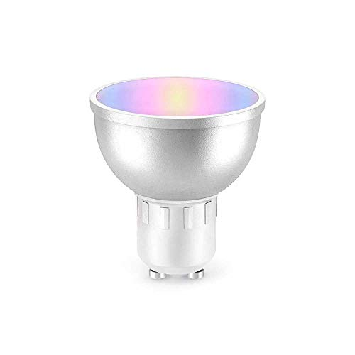 Bombilla inteligente PNI SafeHome PT51RG LED, GU10, WiFi, RGBW, 5W, 500 lm, luz / color ajustable a través de Internet, aplicación Tuya Smart