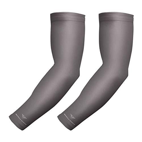 1par bucwild Protección Solar de refrigeración de deportes Compresión Arm Sleeves–Jóvenes y Adultos tamaños–Béisbol Baloncesto Golf Tenis Running–8colores