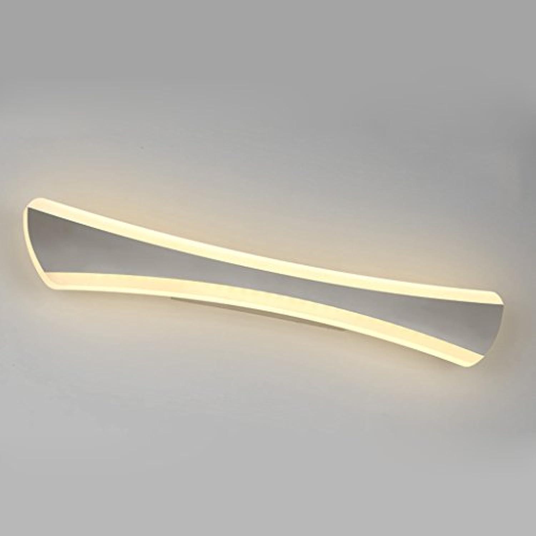 Beleuchtung LED-Spiegel-Scheinwerfer, Edelstahl-Wand-Lampe Moderne Badezimmer-wasserdichte Nebel-Lichter-Wand-Lampe ( Farbe   Warmwei-14w 42cm )