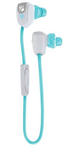 Yurbuds by JBL Leap 100 Wireless Bluetooth In-Ear Sport Kopfhörer (Integriertem Mikrofon mit Musiksteuerung, Anrufannahme, Lautstärkeregelung, geeignet für Smartphones/Tablets/MP3 Geräten) aqua/weiß