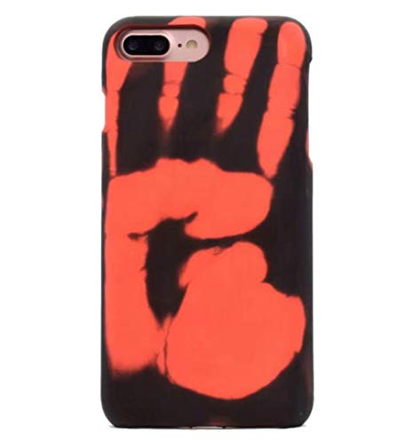 Losin Thermal Case Compatible with Apple iPhone 7 / iPhone 8 / iPhone SE 2020 4.7 Inch Fashion Color Changing Thermal Sensor Fluorescent Thermal Heat Induction Noctilucent Matte Soft TPU Back Case