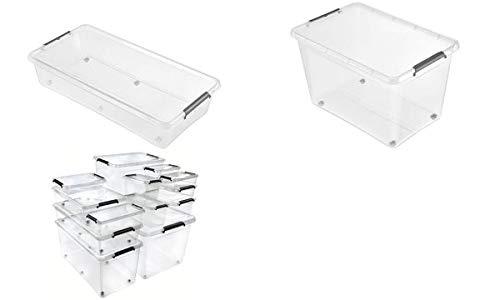 keeeper Aufbewahrungsbox/Clipbox Lars, mit Rollen, 29 Liter, Sie erhalten 1 Packung